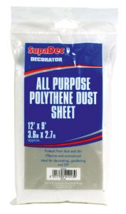 SupaDec All Purpose Polythene Dust Sheets 12' x 6'