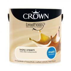 Crown Matt Emulsion 2.5L Ivory Cream