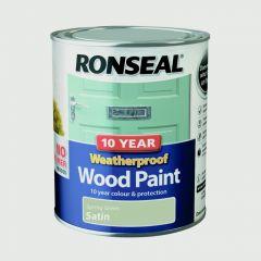 Ronseal 10 Year Weatherproof Satin Wood Paint 750ml Spring Green