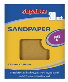 SupaDec General Purpose Sandpaper Pack 30 Fine F2