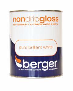 Berger Non Drip Gloss 750ml Pure Brilliant White