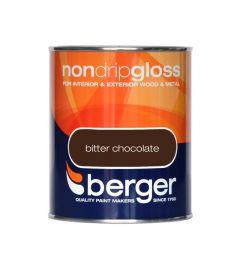 Berger Non Drip Gloss 750ml Bitter Chocolate
