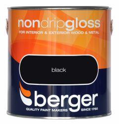 Berger Non Drip Gloss 2.5L Black