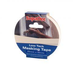SupaDec Low Tack Masking Tape 25mm x 50m