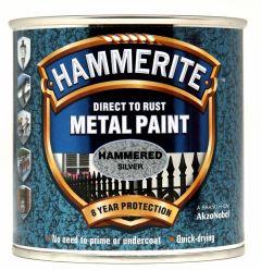 Hammerite Metal Paint Hammered 250ml Silver