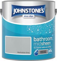 Johnstone's Bathroom Midsheen 2.5L Manhattan Grey