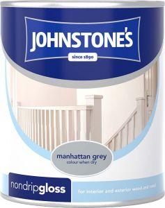 Johnstone's Non Drip Gloss 750ml Manhattan Grey