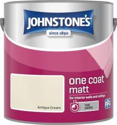 Johnstone's One Coat Matt 2.5L Antique Cream
