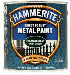Hammerite Metal Paint Hammered 2.5L Dark Green