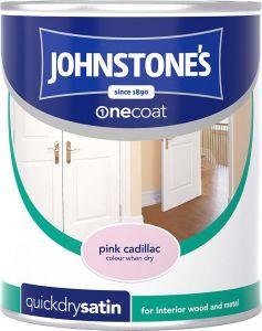 Johnstone's Quick Dry Satin 750ml Pink Cadillac