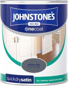 Johnstone's Quick Dry Satin 750ml Urban Sky