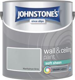 Johnstone's Wall & Ceiling Soft Sheen 2.5L Manhattan Grey
