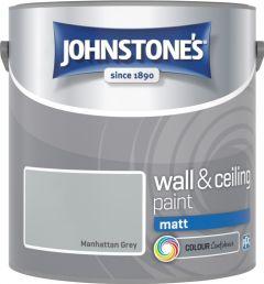Johnstone's Wall & Ceiling Matt 2.5L Manhattan Grey