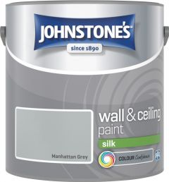 Johnstone's Wall & Ceiling Silk 2.5L Manhattan Grey