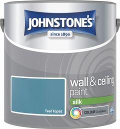 Johnstone's Wall & Ceiling Silk 2.5L Teal Topaz