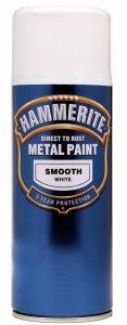 Hammerite Metal Paint 400ml Aerosol Smooth White