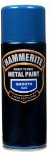Hammerite Metal Paint 400ml Aerosol Smooth Blue