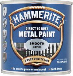 Hammerite Metal Paint Smooth 250ml Silver
