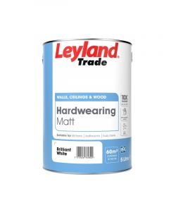 Leyland Trade Hardwearing Matt 5L Brilliant White