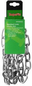 SupaFix Welded Link Chain 2m Steel Hot Dip Galvanised 6x33mm