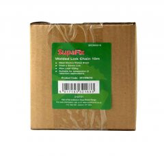 SupaFix Welded Link Chain 10m Electro Plated Black 5x35mm