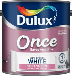 Dulux Once Soft Sheen 2.5L Pure Brilliant White