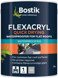 Bostik Flexacryl Waterproofer Solvent Free 5L Grey