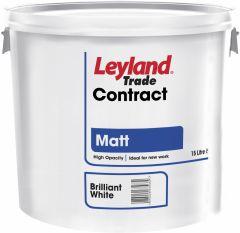 Leyland Trade Contract Matt 15L Pure Brilliant White