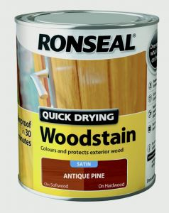 Ronseal Quick Drying Woodstain Satin 750ml Antique Pine