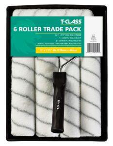 T-Class Delta 6 Sleeve Roller Set - (1� Dia) 9