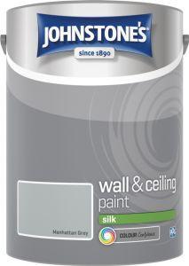 Johnstone's Wall & Ceiling Silk 5L Manhattan Grey