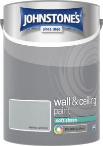 Johnstone's Wall & Ceiling Soft Sheen 5L Manhattan Grey
