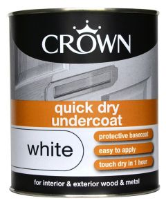 Crown Quick Dry Undercoat 750Ml White