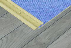 Supadec Aluminium Coverstrip Gold Effect 25X900