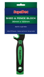 Supadec Shed And Fence Block Brush 30Mm X 120Mm