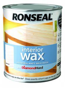 Ronseal Interior Wax Matt 750Ml White Ash