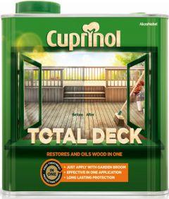 Cuprinol Total Deck Restorer & Oil 2.5L Clear