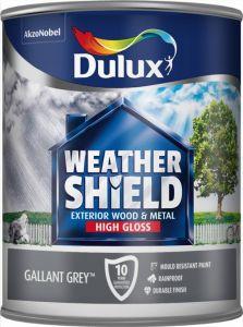 Dulux Weathershield Exterior Gloss 750Ml Gallant Grey