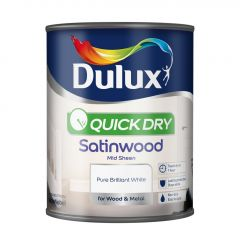 Dulux Quick Dry Satinwood 750Ml Pure Brilliant White