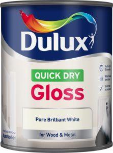 Dulux Quick Dry Gloss 750Ml Pure Brilliant White