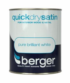 Berger Quick Dry Satin 750Ml Brilliant White