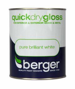 Berger Quick Dry Gloss 750Ml Brilliant White
