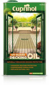 Cuprinol Uv Guard Decking Oil 5L Natural