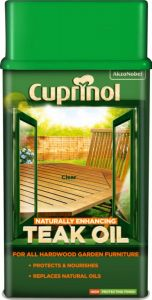 Cuprinol Garden Furniture Teak Oil 1L