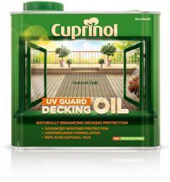 Cuprinol Uv Guard Decking Oil 2.5L Natural Oak