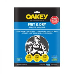 Norton Oakey Flexible Wet & Dry Paper - 275 X 225Mm Assorted (1 X C 2 X M 1 X F)
