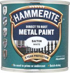 Hammerite Metal Paint Satin 250Ml White
