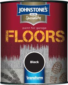 Johnstone's Garage Floor Paint Semi Gloss 750Ml Black