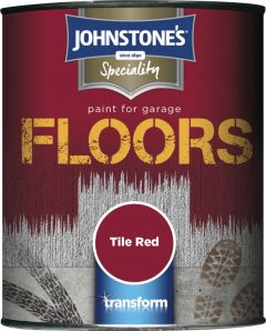 Johnstone's Garage Floor Paint Semi Gloss 750Ml Tile Red
