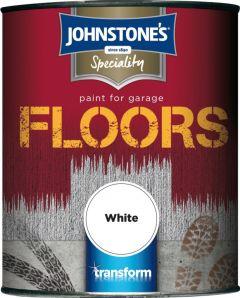 Johnstone's Garage Floor Paint Semi Gloss 750Ml White